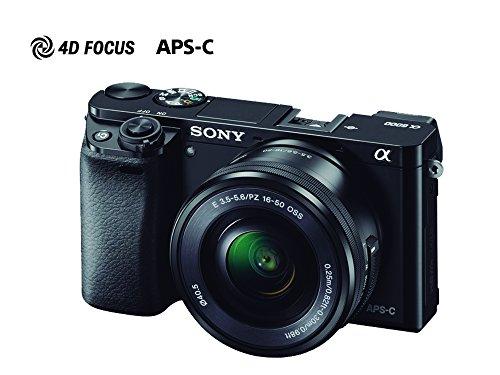 Sony ILCE-6000L Cámara Alpha Mirrorless con Montura E APS-C CMOS con 24.3mp, Incluye lente...