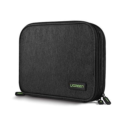 UGREEN Organizador de Viaje Bolsa Portable para Accesorios Electrónicos como Tableta, Batería...