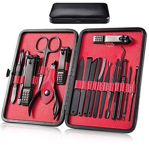 Manicura Set - 18 en 1 Manicura y Pedicura Profesional Herramientas de Cortauñas Manicura Uñas...